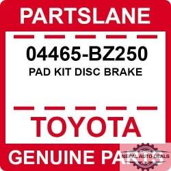 Disc Brake 04465BZ250 | Pad Kit  OEM |Genuine Toyota / Lexus Origin
