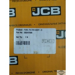 320 a7086 Genuine jcb fuel filter assy 3 air filter parts jcb 3DXL, 430 ZXPlus, 432ZX and 455ZX